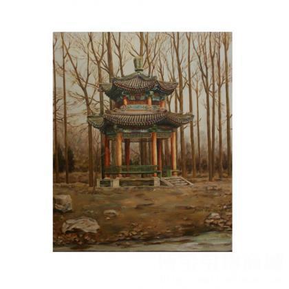 老亭子 类别: 风景油画