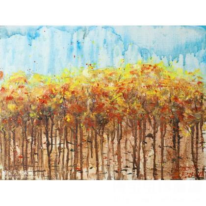 李宏 小树林 类别: 风景油画