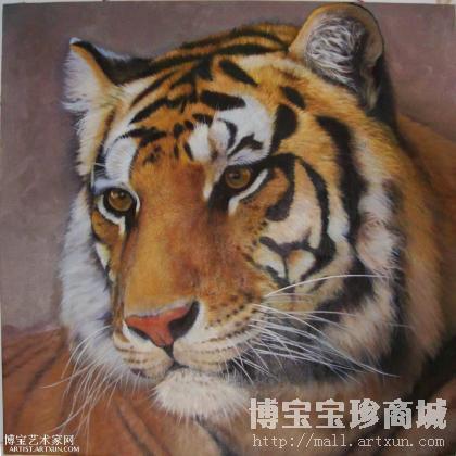 庄鹏 老虎 类别: 动物油画