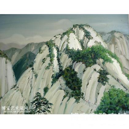 油画;当代艺术;名家 张剑 - 张剑 华山印象六 类别: 风景油画