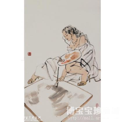 名家 王燕民 书法 - 写生 写意人物画 王燕民作品 类别: 写意人物画