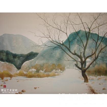 名家 冯保民 水彩; - 冯保民 水彩风景0211 类别: 水粉画|水彩画
