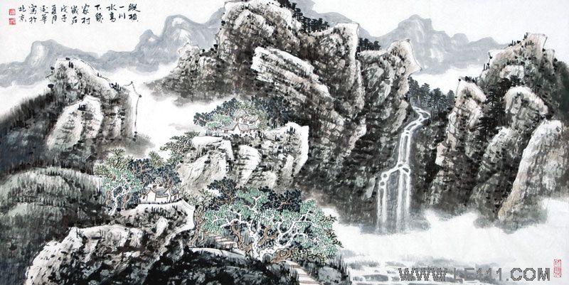 """名家 赵延华 绘画 国画 山水画 - 赵延华的作品""""作品18"""""""