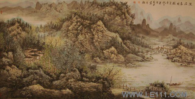 中国 绘画 国画 山水画 名家