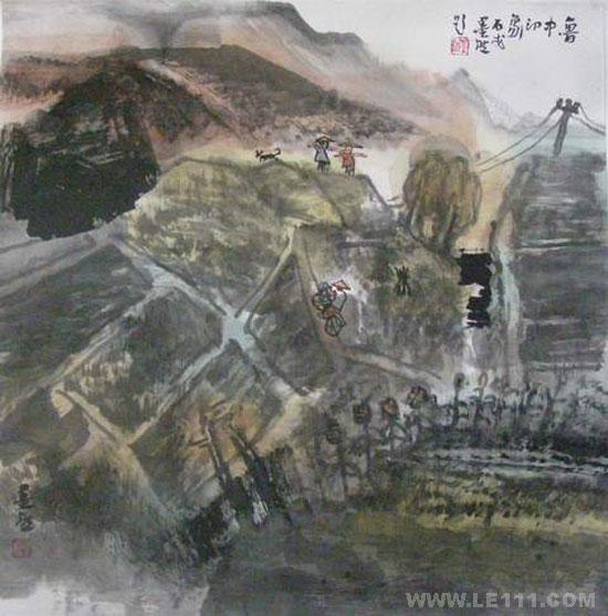 """绘画 国画 山水画名家 墨然 - 墨然的作品""""山水系列"""""""