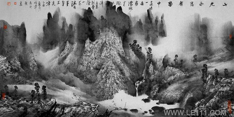 武当山水墨画