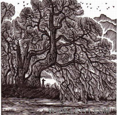 """绘画 版画名家 罗保根 - 罗保根的作品""""风景"""""""
