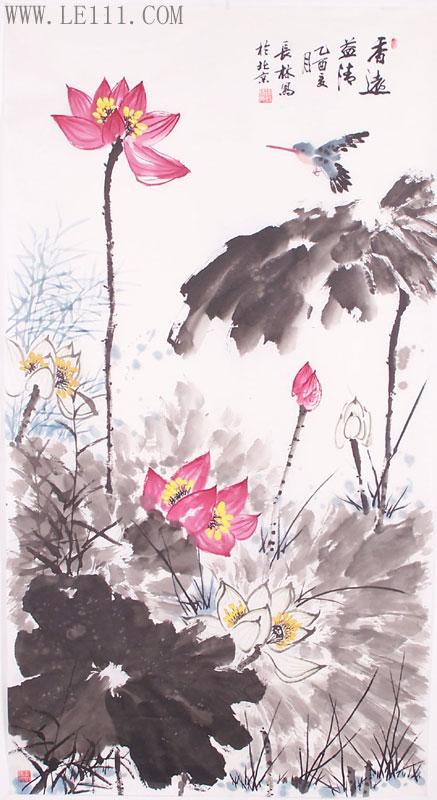 水墨画水仙花步骤图
