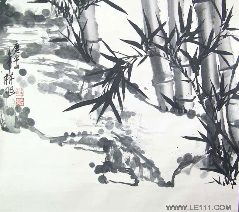 王林旭-王林旭的竹子作品-淘宝-名人字画-中国英文视频香港图片