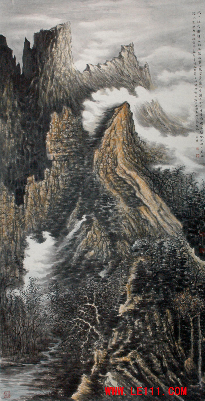 """名家 刘玉林 绘画 国画 山水画 - 刘玉林的作品""""作品42"""" 当前 位粉丝"""
