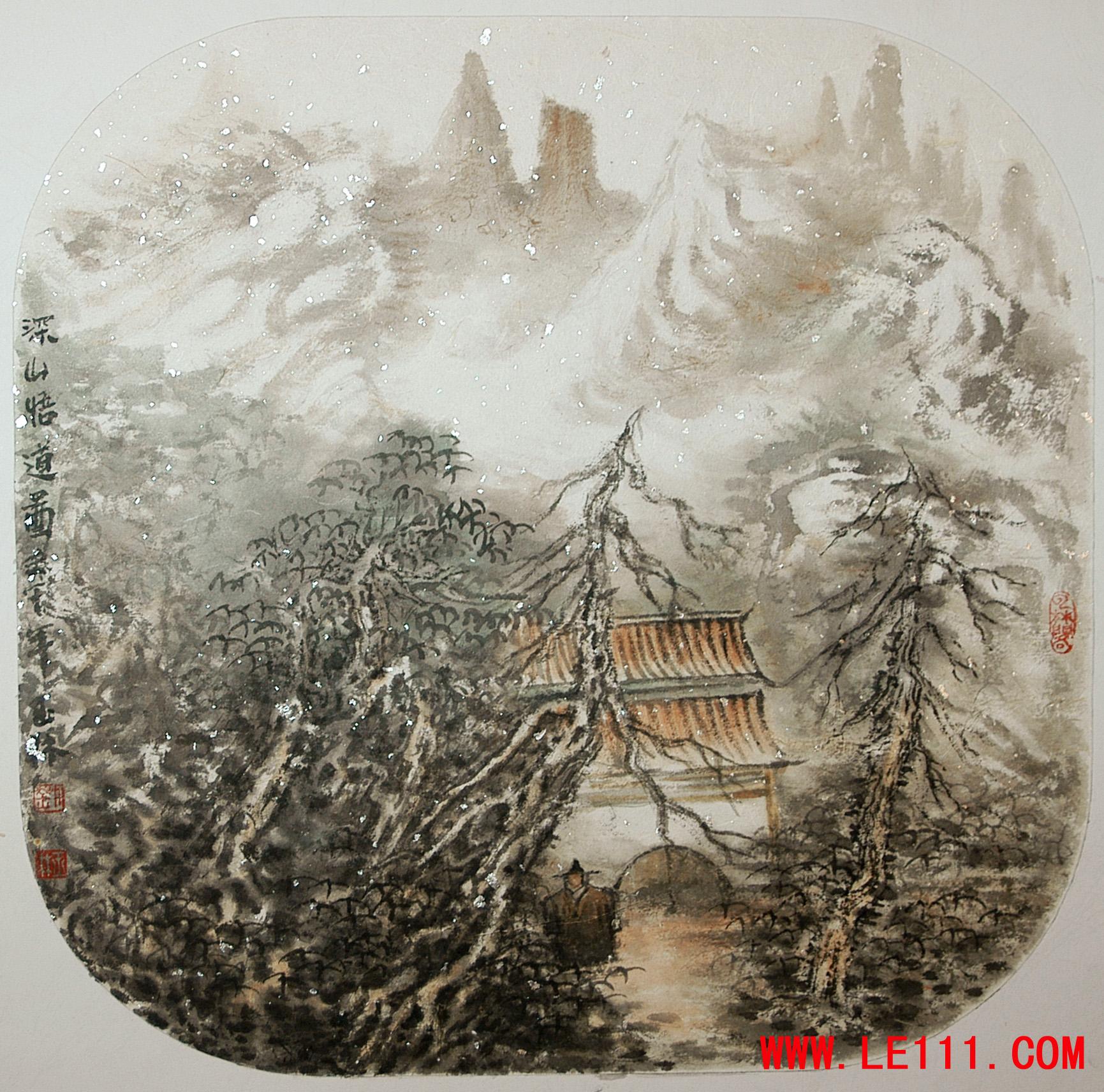 """名家 刘玉林 绘画 国画 山水画 - 刘玉林的作品""""作品27"""" 当前 位粉丝"""
