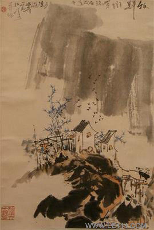 """绘画 国画 山水画名家 赵松涛 - 赵松涛的作品""""写意山水2"""""""