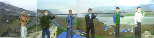 """刘晓东的作品""""三峡大移民""""图片"""