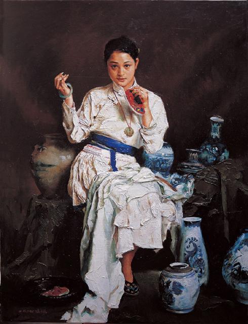 绘画 名家 潘鸿海国际艺栈作品交易平台