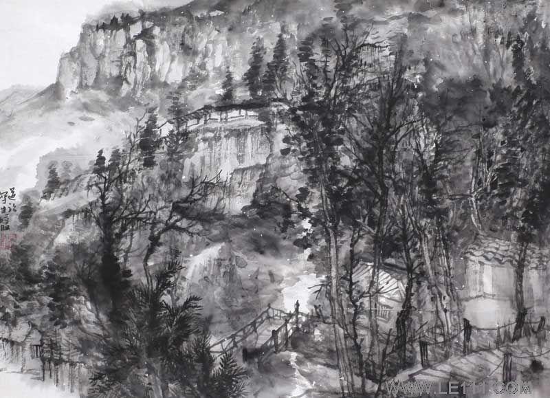 绘画 国画 山水画专长名家张道强作品保真鉴赏视频