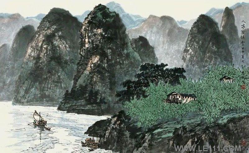 壁纸 风景 国画 800_492