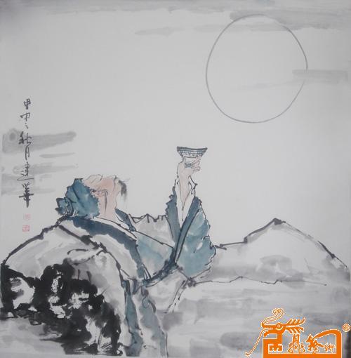 李白醉酒图中国书画服务中心