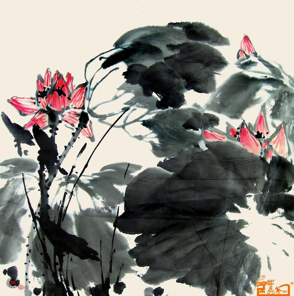 名家 邹友蒸 国画 - 出水芙蓉 当前 位粉丝喜爱本幅作品