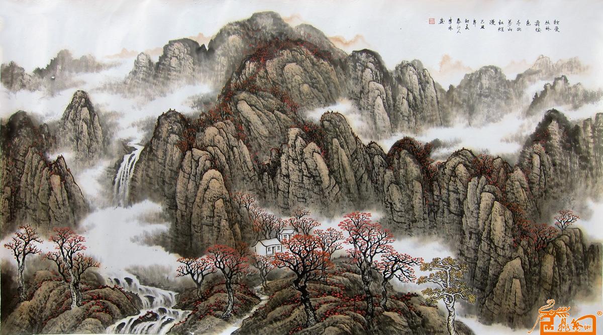 李林-独爱丛林霜后色 -淘宝-名人字画-中国书画交易
