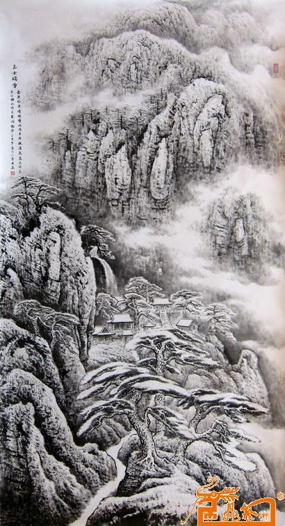 李林田摄影�y.�_山水名家 李林 - 玉女瑞雪