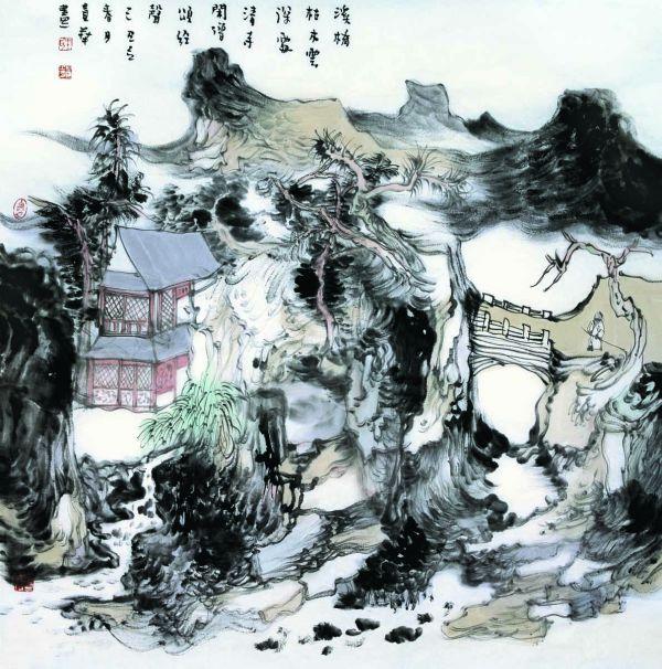 国画名家 王贵华 - 山水图片