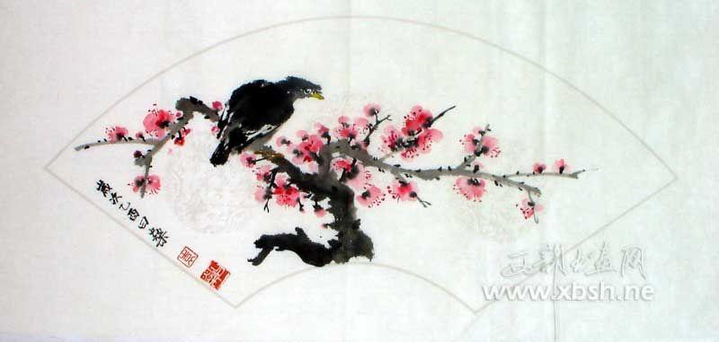 名家 袁曰燊 国画 - 扇面-花鸟 当前 位粉丝喜爱本幅作品