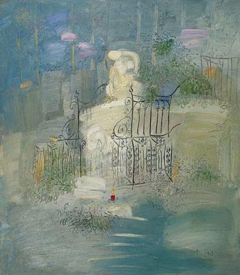 任中国油画风景展评委 1996年 赴法国巴黎国际艺术中心进修考察现代