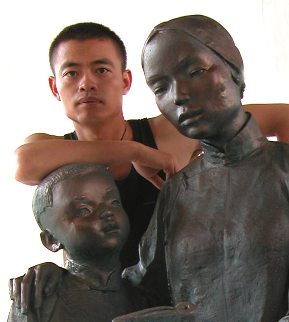 雕塑雕刻名家 李小兵 - 秋雨无声