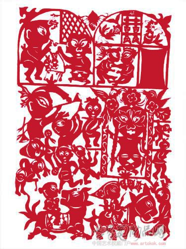 国际艺术席位 > 个人作品  广东汕头民间剪纸艺术家 名家陈小燕常用