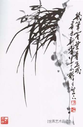 娄本鹤-兰花-淘宝-名人字画-中国书画服务中心