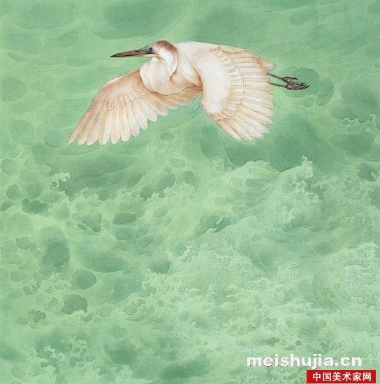 千里之行后面是_国画名家 邹传安 - 邹传安艺术作品《千里之行》