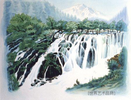 名家 邹建军 其它 - 九寨沟--树正瀑布 当前 位粉丝喜爱本幅作品