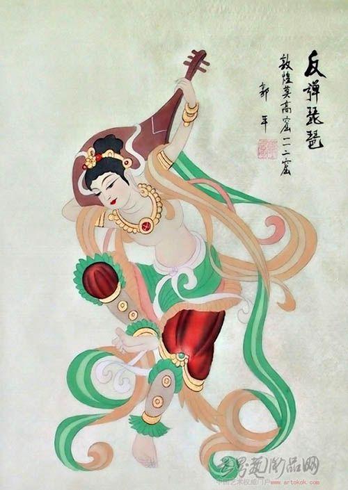 反弹琵琶(绢)