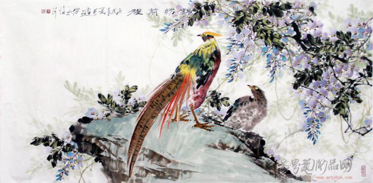 冯雪生-锦绣前程-淘宝-名人字画-中国书画交易中心