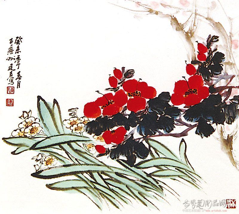 写意茶花画法步骤
