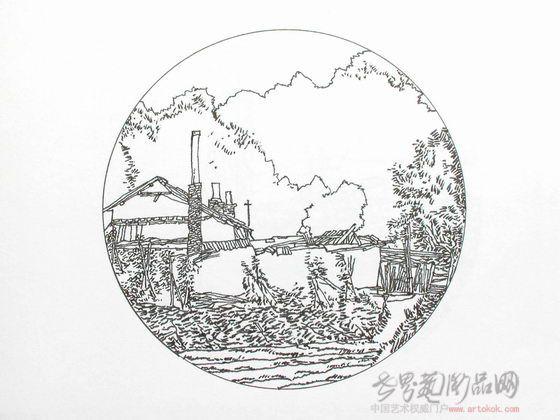 钢笔画风景写实(三).
