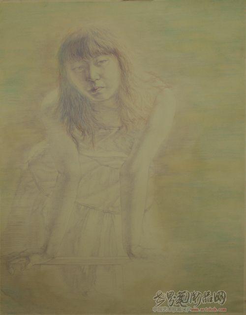 名家 柳飞 油画 - 彩色铅笔画
