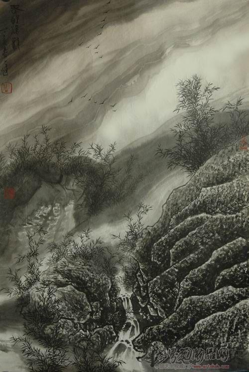 溪淘宝�_山溪-周一峰-淘宝-名人字画-中国书画交易中心,中国,.