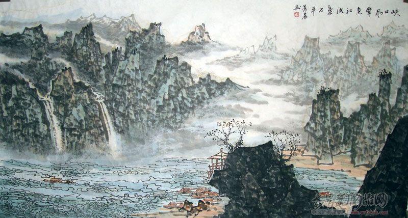 名家 吴景晨 国画 - 吴景晨的桂林山水
