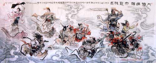 陈略-八仙过海-淘宝-名人字画-中国书画服务中心,中国