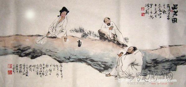 卜大清-品茗图-淘宝-名人字画-中国书画服务中心,中国