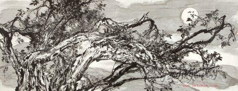 任之-胡杨树系列5-淘宝-名人字画-中国书画交易中心