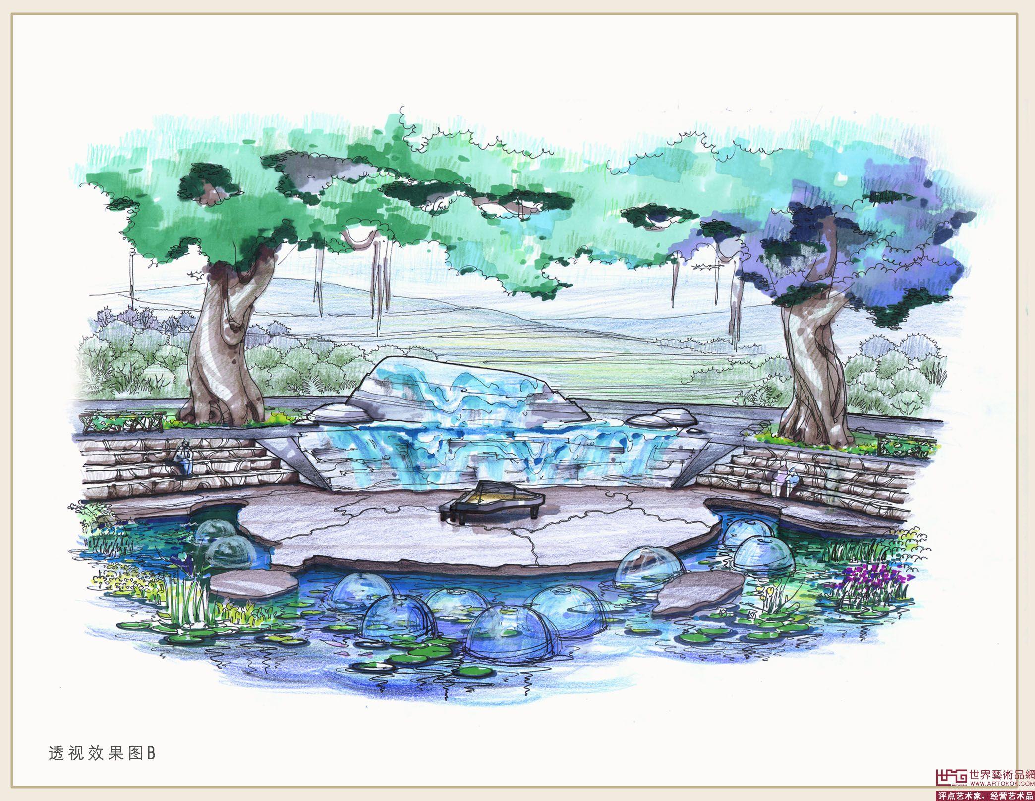 同根园手绘效果图2