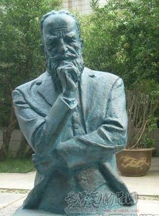 许献刚-名人像萧伯纳-淘宝-名人字画-中国书画
