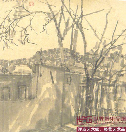 名家 顾海涛 国画 - 秋天的风景no1