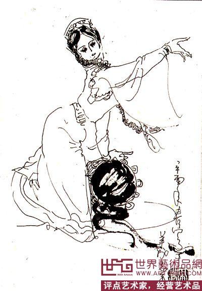 民族舞简笔画