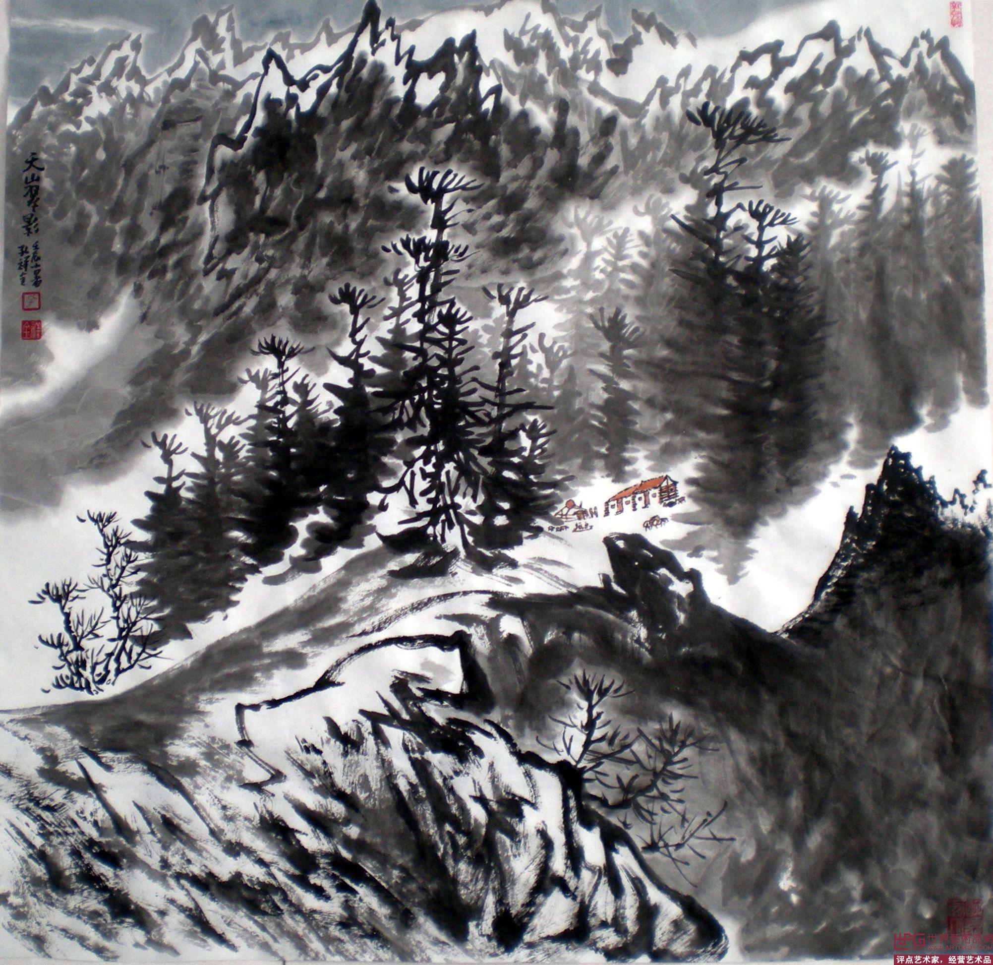 名家 孔祥全 国画 - 大美,新疆 当前 位粉丝喜爱本幅作品