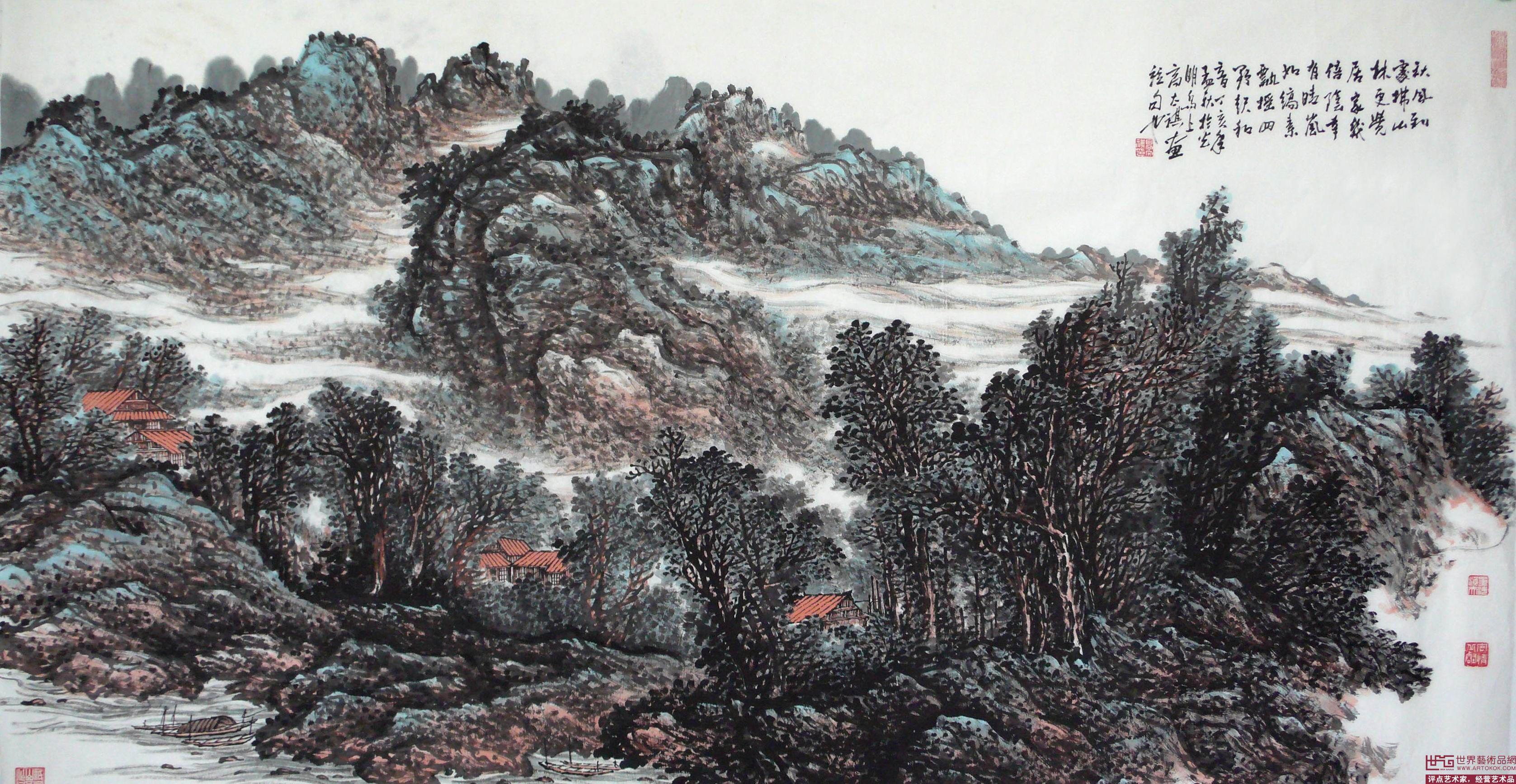 高太祺山水画作品;; 山水作品;; 国画山水设计图_水墨画_绘画书