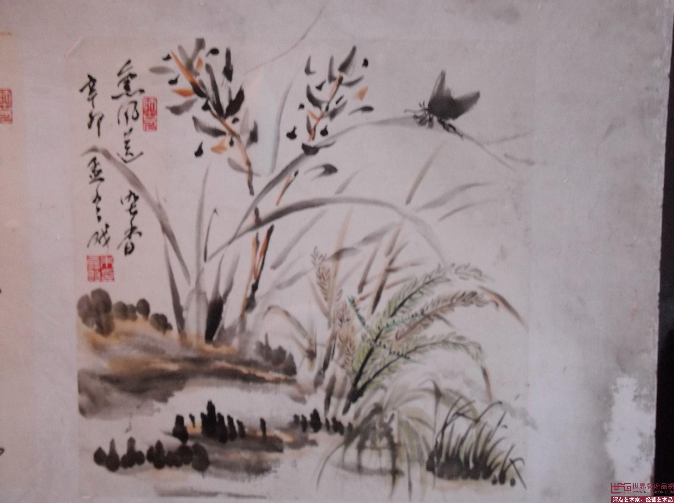 兰花-朱嘉明-淘宝-名人字画-中国书画交易中心