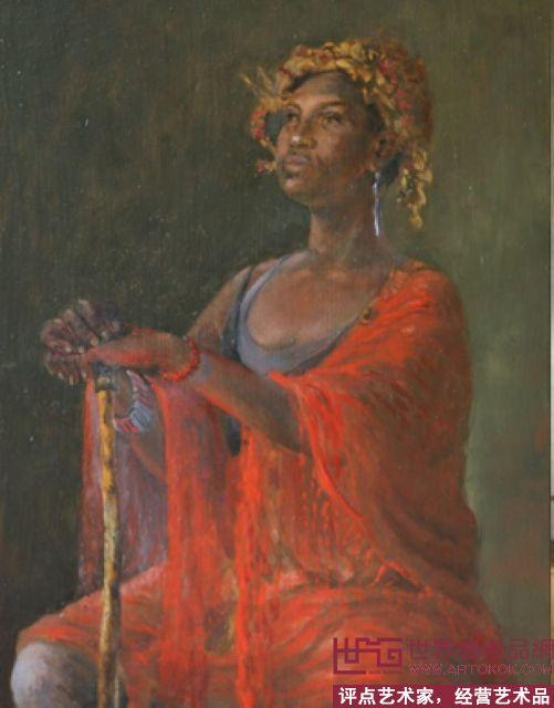 幅  轉到: 作品名稱 《油畫寫生  《摩洛哥女孩》   李昱華在荷蘭課堂
